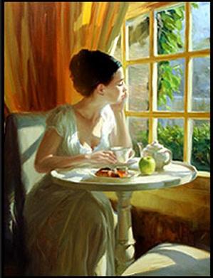 Lady- sunny breakfast