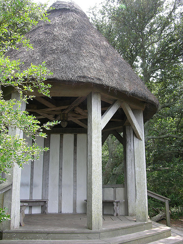 Thatched roof gazebo