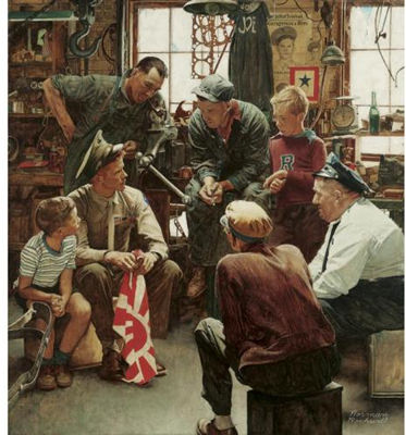 Norman rockwell soldier