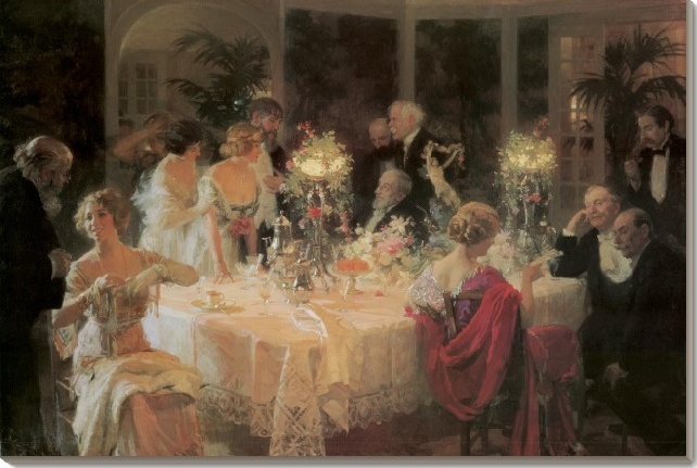 Dinner-the end of dinner