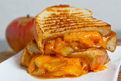 Carmelized Apple Grilled Cheese Sandwich
