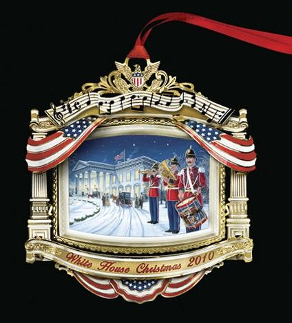 White House Christmas Ornament 2010