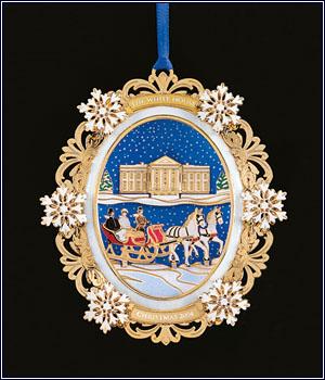 White House Christmas Ornament 2004