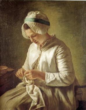 Woman-knitting small