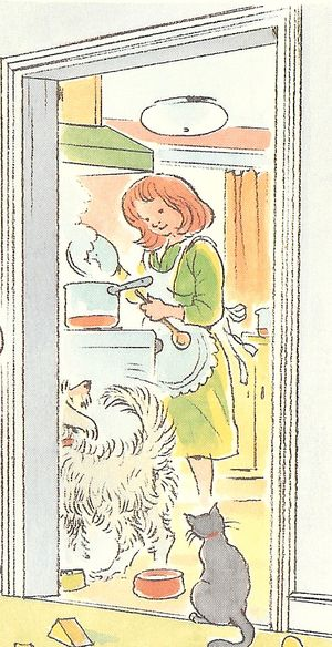 Peter Spiers mother cooking