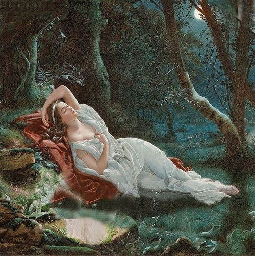 John Simmons  Titania Sleeping in the Moonlight