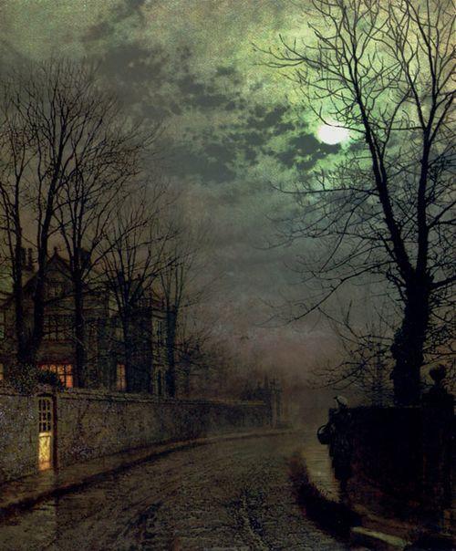 A Lane In Headingley, Leeds , 1881 John Atkinson Grimshaw