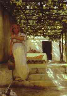 Martha under trellis