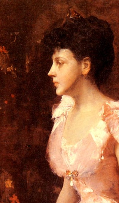 Chase-William-Merritt-Portrait-Of-A-Lady-In-Pink face