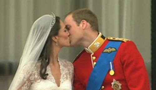Royal wedding william and kate the kiss