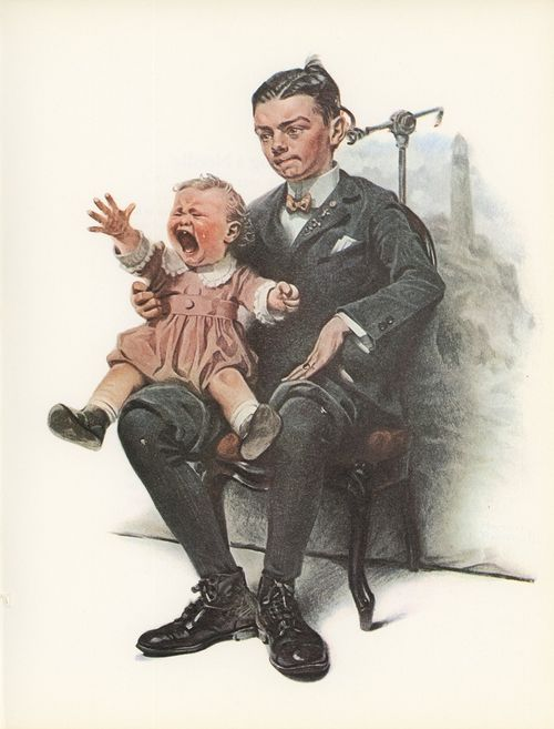 Norman Rockwell crying baby