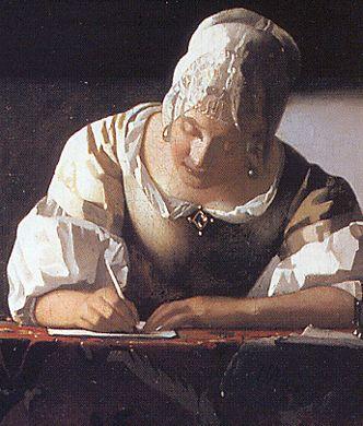 Vermeer-lady-writing-detail