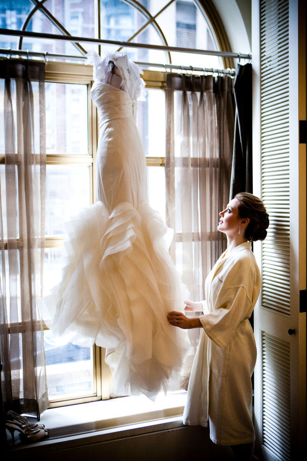 Wedding dress window