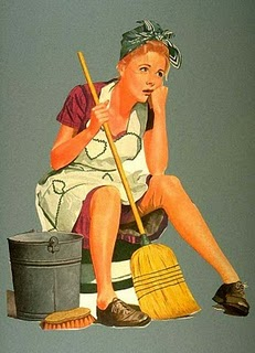 Cleaning lady vintage