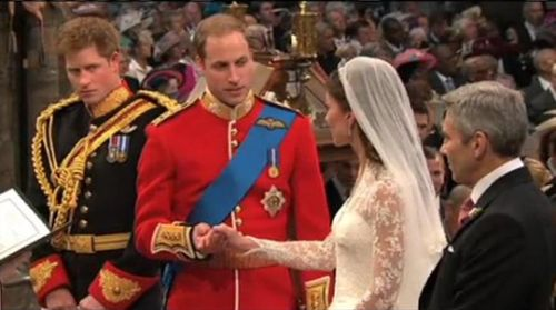 Royal wedding william and kate exhange vows