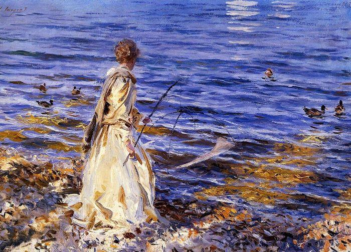 Girl Fishing John Singer Sargent