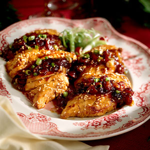 Southern living carmelized chicken and cranberry conserve