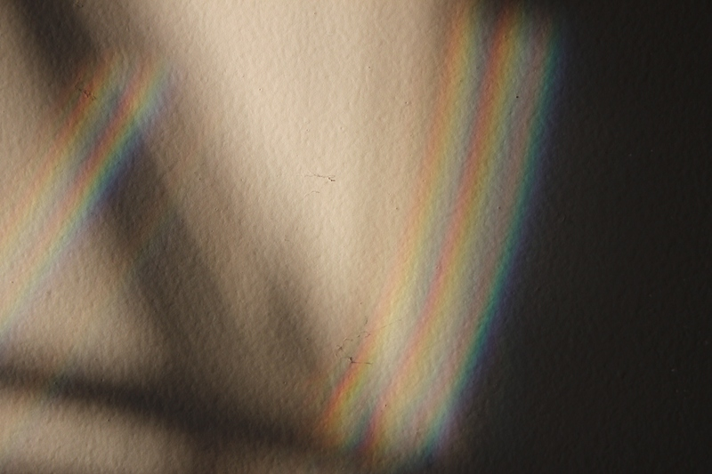 Two rainbows on wall