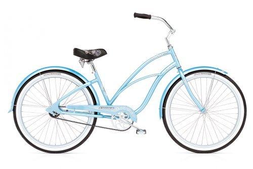 Blue girls beach cruiser