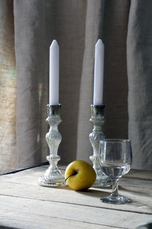 French mercury candlesticks