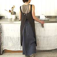 Fog Linen Apron and skirt