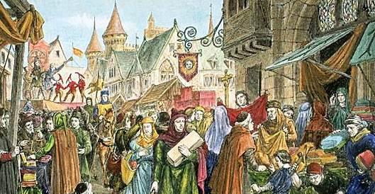 Medieval Fair in Serravalle Pistoiese Near Pistoia Tuscany