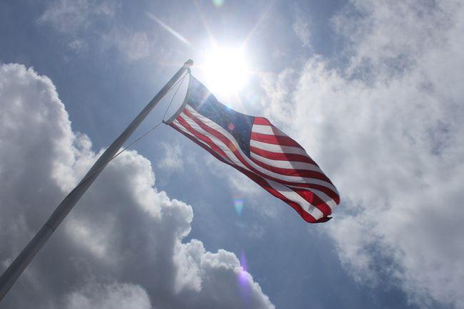 Sun on flag
