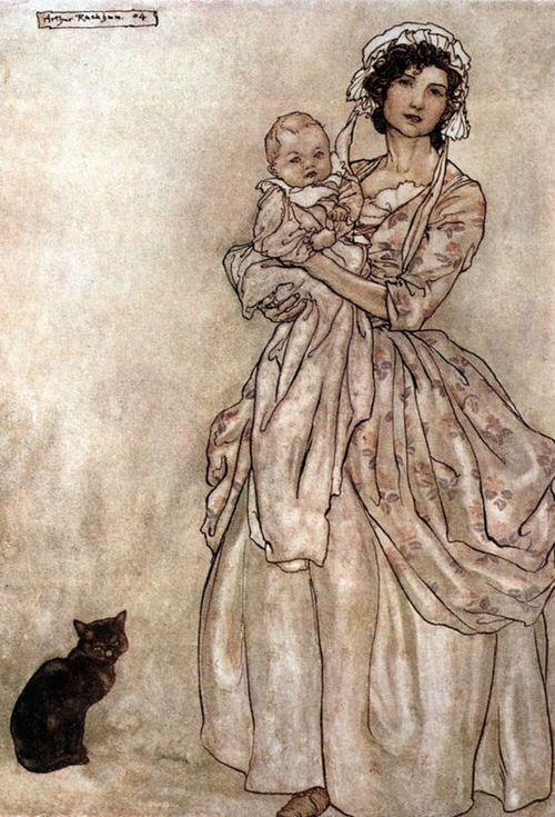 Arthur Rackham, Rip Van Winkle's Daughter and Granddaughter