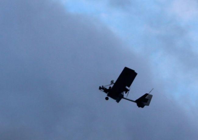 Glider plane pilot