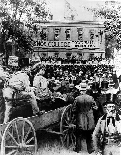 Lincoln Douglas at Galesburg