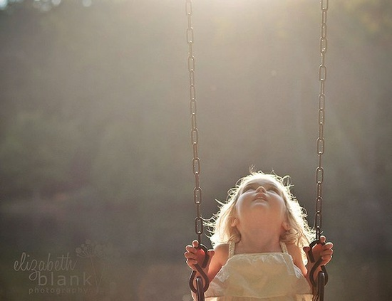 Little one in swing
