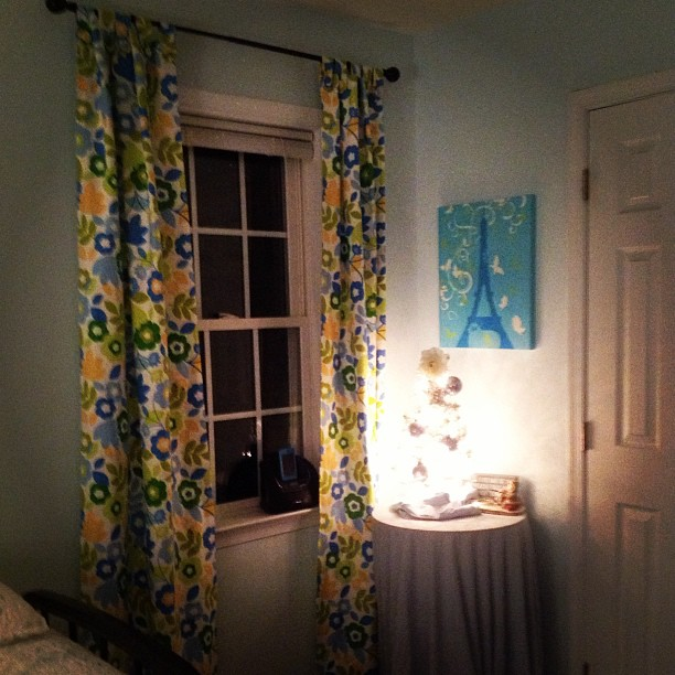 J's new curtains