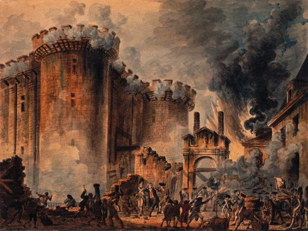 14th July 1789 the Storming of the Bastille