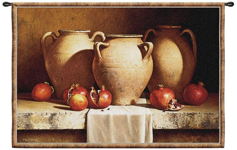 Urns with pomegranate