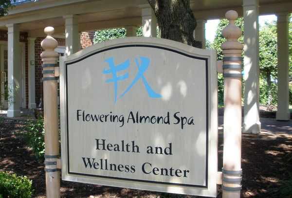 Flower almond spa sign