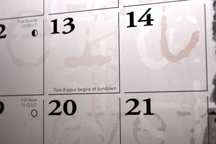 Yom Kippur begins at sundown