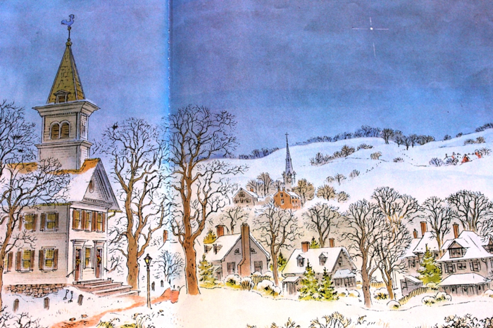 Peter Spiers Christmas Church in Snow