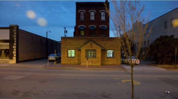 The brick building