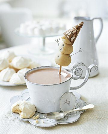 Snow man hot chocolate