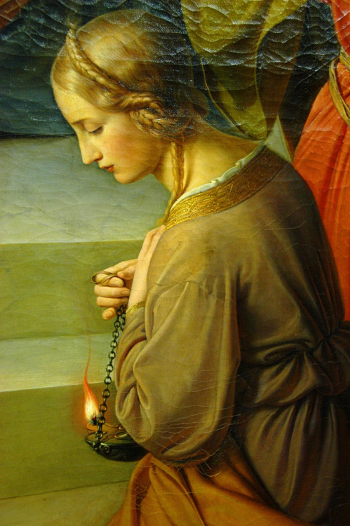 Parable of the Wise and Foolish Virgins (detail), 1842, Wilhelm von Schadow