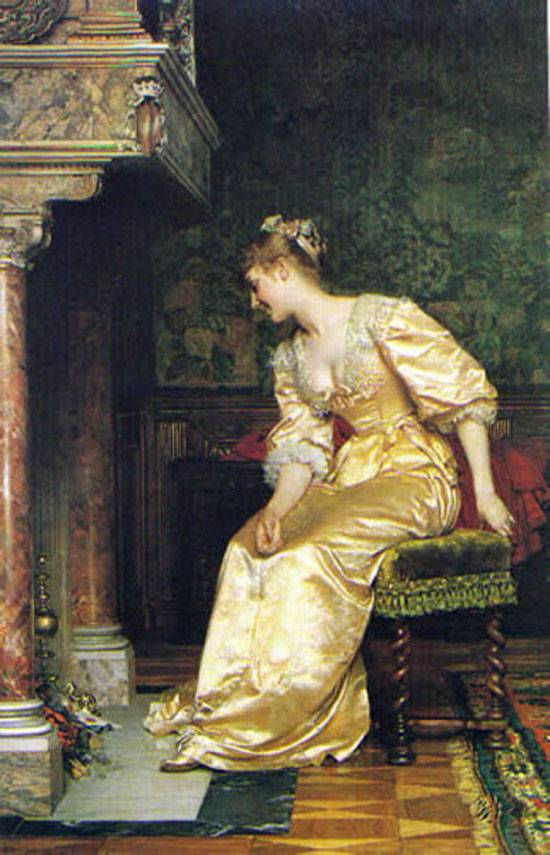 Lady by Fireplace wladyslaw czachorski
