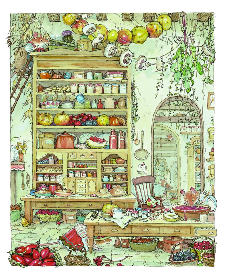 Brambly Hedge Palace Kitchen Autumn story