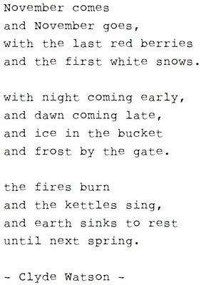 November comes poem